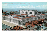 New York City, New York - Aerial View of Penn Station Prints by Lantern Press 