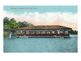 Gull Lake, Michigan - Allendale Pavilion Scene Print by Lantern Press