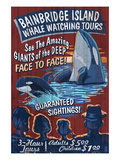 Bainbridge Island, Washington - Whale Watching Prints by  Lantern Press
