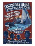 Bainbridge Island, Washington - Whale Watching Prints by  Lantern Press