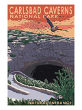 Carlsbad Caverns National Park, New Mexico - Natural Entrance Prints by Lantern Press