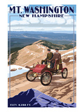 Mt. Washington Auto Road, New Hampshire - Stanley Locomobile Prints by Lantern Press