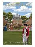 Williamsburg, Virginia - Governor's Palace in Spring Poster von Lantern Press