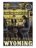 Saloon Scene - Jackson Hole, Wyoming Prints by  Lantern Press