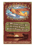 Fairbanks, Alaska - Air Tours Print by  Lantern Press