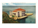 Avalon, California - Exterior View of the New Casino Building Prints by  Lantern Press