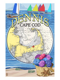 Dennis, Massachusetts Montage Prints by  Lantern Press