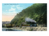 Oil City, Pennsylvania - Train Exiting Lake Shore Tunnel Posters by  Lantern Press