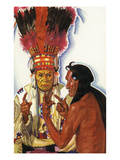 Portrait of Blackfeet Medicine Man No Runner and Hair Coat Art by  Lantern Press