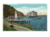 Avalon, California - View of the Yacht Club and New Casino Art by  Lantern Press