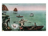 Santa Catalina Island, California - View of People Diving for Coins Posters by  Lantern Press