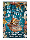 Hutchinson Island, Florida - Shell Shop Prints by  Lantern Press