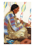 Portrait of Sundance, a Blackfeet Chief Poster by Lantern Press