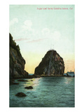Santa Catalina Island, California - View of the Sugar Loaf Posters by  Lantern Press