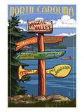Maggie Valley, North Carolina - Sign Destinations Prints by  Lantern Press