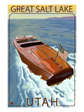 Great Salt Lake, Utah - Chris Craft Boat Art by  Lantern Press