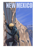 Cliff Climber - New Mexico Print by Lantern Press 