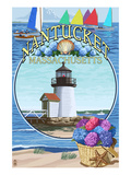 Nantucket, Massachusetts Montage Poster by  Lantern Press