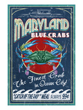 Blue Crabs - Ocean City, Maryland Posters by  Lantern Press
