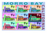 Morro Bay, California - Woody Pop Art Poster by  Lantern Press