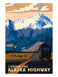 I Drove the Alaska Highway Stampa giclée premium di  Lantern Press