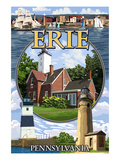 Erie, Pennsylvania - Montage Scenes Posters by  Lantern Press