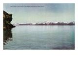 Lake Tahoe, California - Cave Rock, Lady of the Lake Scene Prints by  Lantern Press