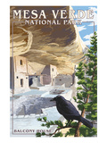 Mesa Verde National Park, Colorado - Balcony House Prints by  Lantern Press
