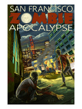 San Francisco Zombie Apocalypse Prints by  Lantern Press