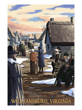 Williamsburg, Virginia - Colonial Scene Poster by  Lantern Press