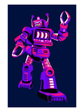 Purple Robot Prints by  Lantern Press