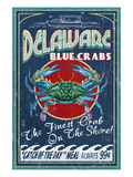 Delaware Blue Crabs Prints by  Lantern Press