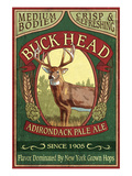 The Adirondacks, New York State - Buck Head Ale Posters by  Lantern Press