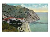 Santa Catalina Island, California - Aerial View of Hotel St. Catherine Print by  Lantern Press