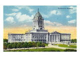 Winnipeg, Manitoba - Parliament Building Exterior Posters by  Lantern Press