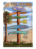 Southern Los Angeles, California - Destination Sign Prints by  Lantern Press
