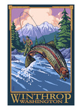Winthrop, Washington - Fly Fishing Scene Prints by  Lantern Press