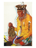 Portrait of Lazy Boy, a Blackfeet Medicine Man Posters by  Lantern Press