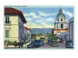 Pasadena, California - Civic Centre Scene Poster von  Lantern Press