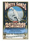 White Sands National Monument, New Mexico - Lizard Poster par  Lantern Press