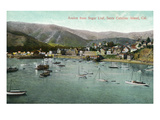 Santa Catalina Island, California - View of Avalon Bay from Sugar Loaf Posters by  Lantern Press