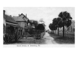 St. Petersburg, Florida - View Down Second Avenue Posters by  Lantern Press