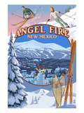 Angel Fire, New Mexico - Winter Scenes Montage Poster by Lantern Press