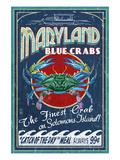Blue Crabs - Solomons Island, Maryland Plakat af  Lantern Press