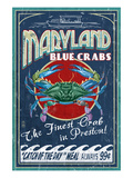 Preston, Maryland - Blue Crabs Prints by Lantern Press