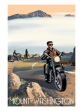 Mt. Washington Auto Road, New Hampshire - Motorcycle Scene Print by Lantern Press