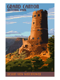 Desert View Watchtower - Grand Canyon Prints by  Lantern Press