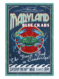 Cambridge, Maryland - Blue Crabs Prints by  Lantern Press
