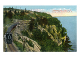 Lake Champlain, New York - Delaware and Hudson River Train Along Lake Kunstdrucke von  Lantern Press