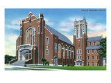 Knoxville, Tennessee - Exterior View of the Central Methodist Church Prints by  Lantern Press